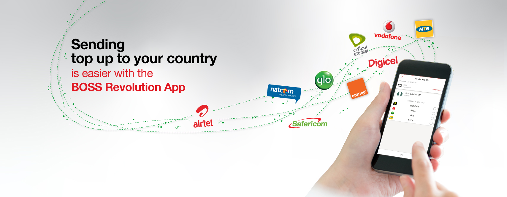Sending top up to your country is easier with the BOSS Revolution App